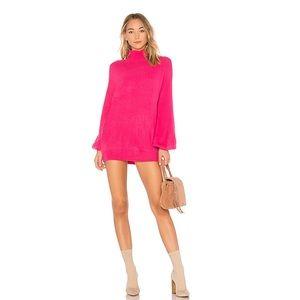 Blaine Sweater Dress in Pink